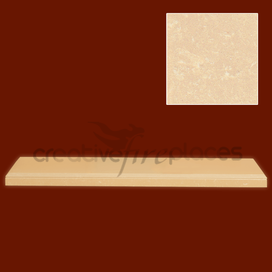 Marble Triple Pencil Profile Hearth - bespokemarblefireplaces