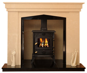Rossendale Solid fuel Marble Fireplace & Hearth
