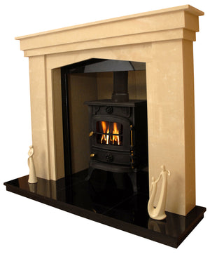 Rossendale Solid fuel Marble Fireplace & Hearth - bespokemarblefireplaces