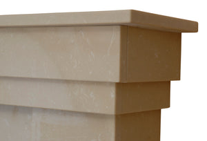 Rossendale Marble Fireplace Hearth & Back Panel - bespokemarblefireplaces