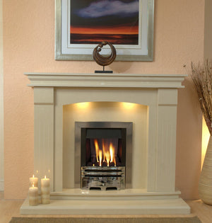 Sheridan Marble Fireplace Hearth & Back Panel - bespokemarblefireplaces