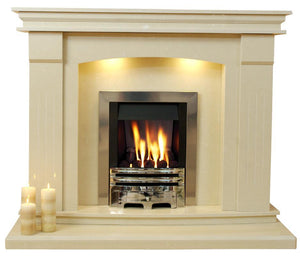 Natural Marble or Limestone Sheridan Fireplace Hearth & Back Panel
