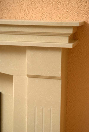 Natural Marble or Limestone Sheridan Fireplace Hearth & Back Panel - bespokemarblefireplaces