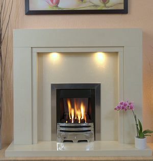 Somerset Marble Fireplace Hearth & Back Panel