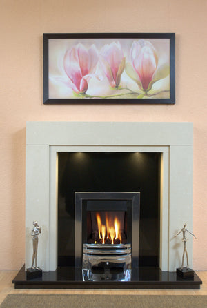 Marble Fireplace Somerset Surround in Lounge- bespokemarblefireplaces