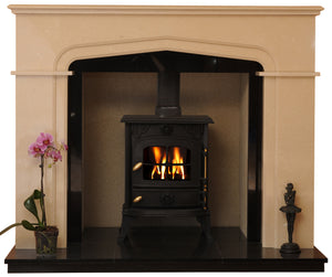 Sutton Solid fuel Marble Fireplace & Hearth