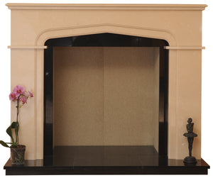 Sutton Solid fuel Marble Fireplace & Hearth - bespokemarblefireplaces