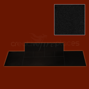 Black Granite Solid fuel T Shaped Hearth - bespokemarblefireplaces