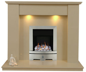 Trent Marble Gas G1 Package - bespokemarblefireplaces