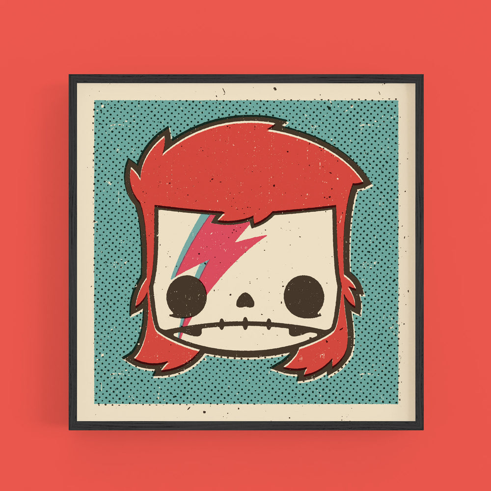 "Load image into Gallery viewer, ""David Bowie"" print 12x12"