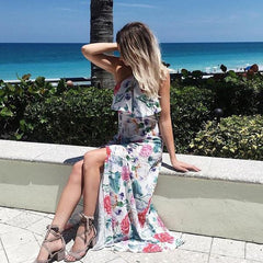 maxi floral dress cruising from florida bahamas