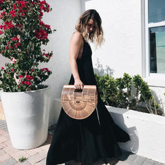 long black maxi dress miami south beach florida