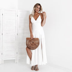 long white boho dress florida vacation summer