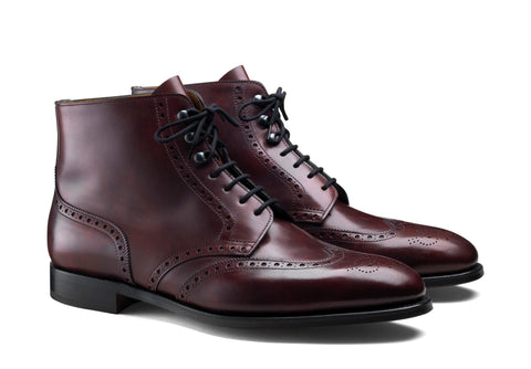 Derby Full Brogue Ankle Boots