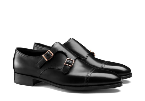 Double Monk Captoe - Black