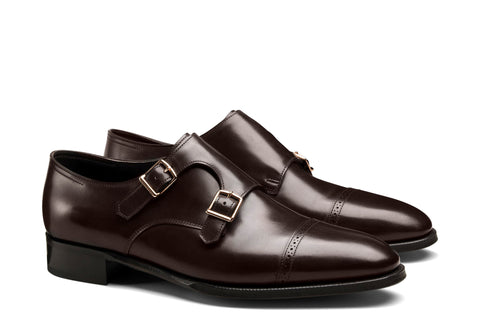 Double Monk Captoe - Dark Brown