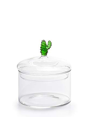 Cactus Glass Canister Short
