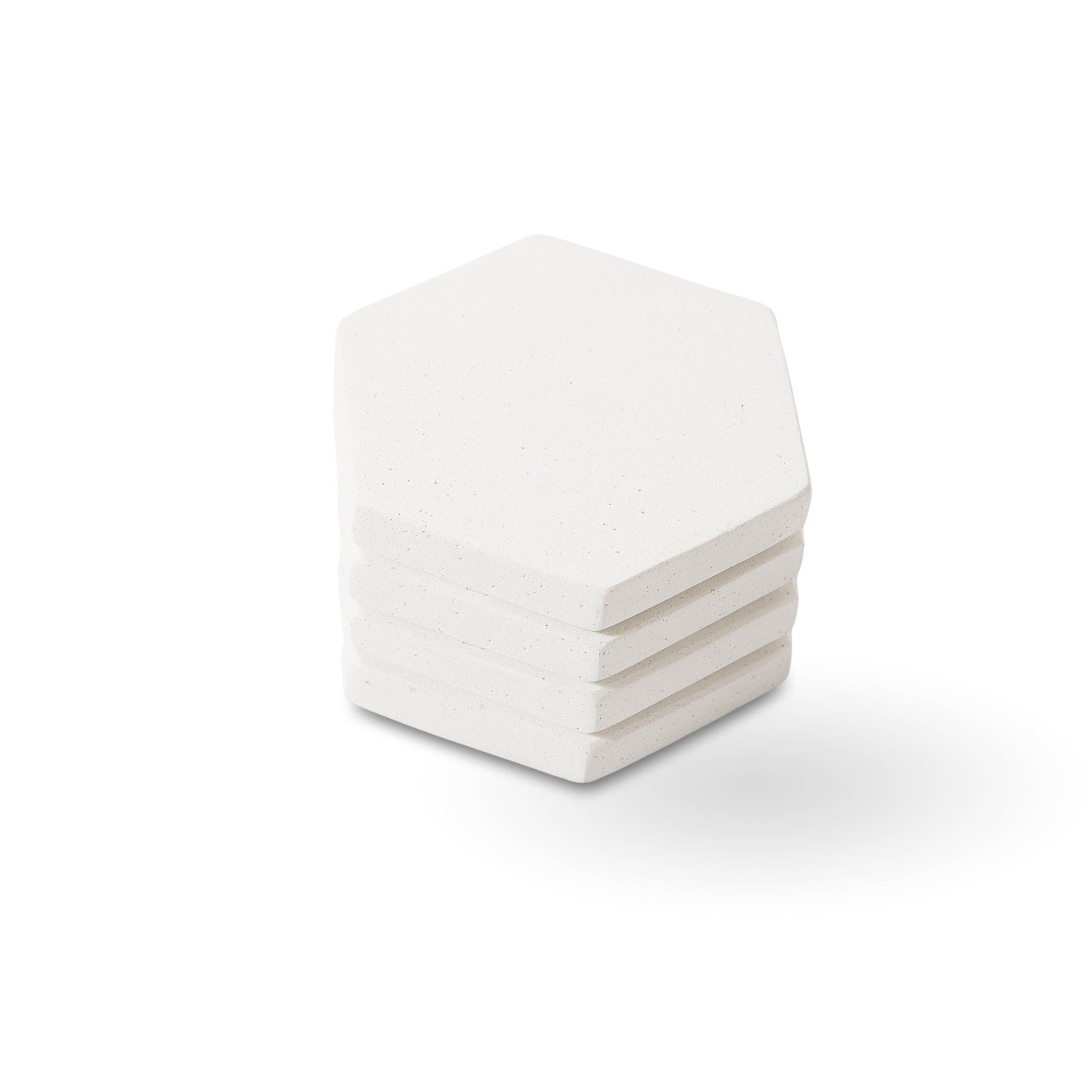 Anthology Honeycomb Coasters - White (Set of 4)