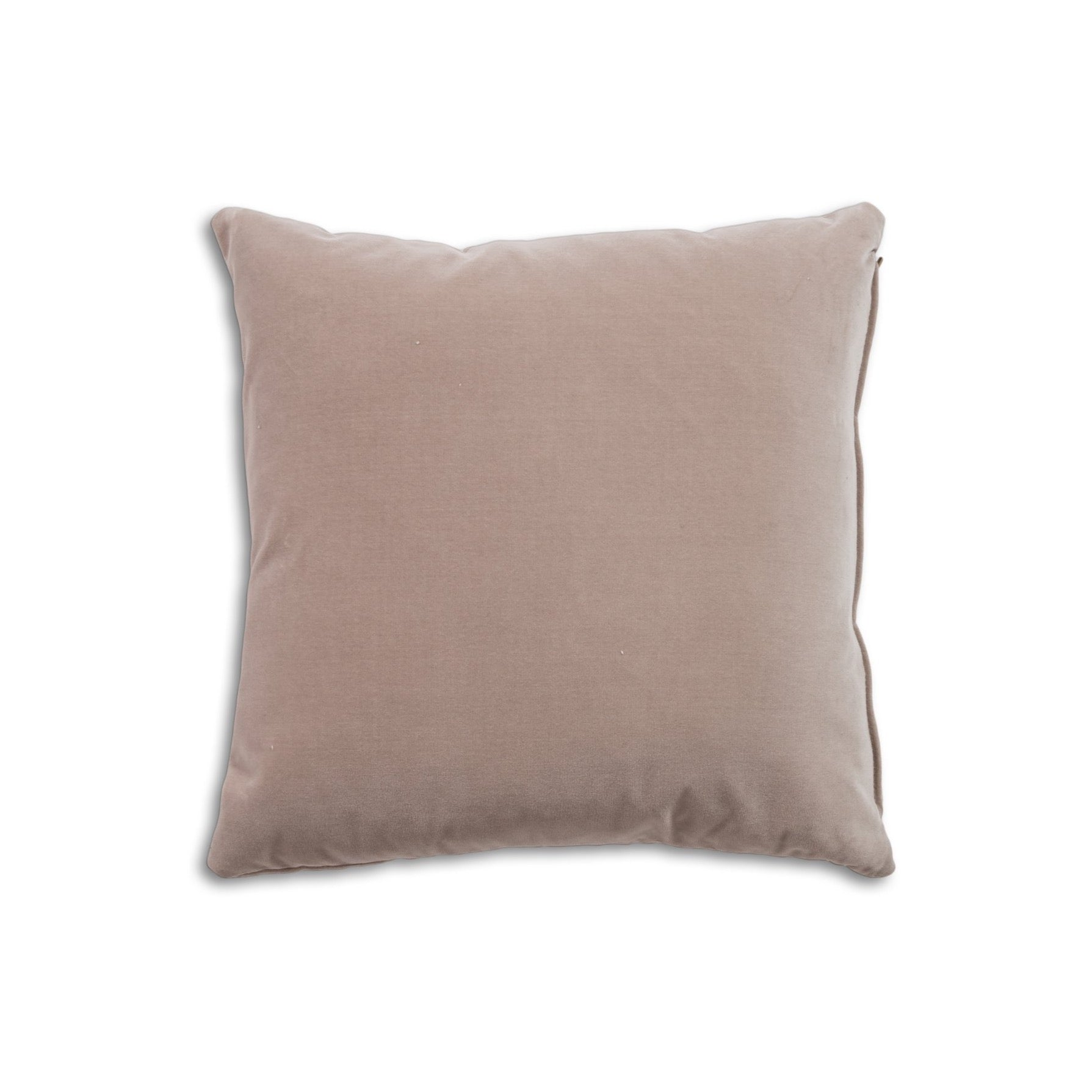 "Breathe 18"" Square Feather Cushion - Oyster Velvet"