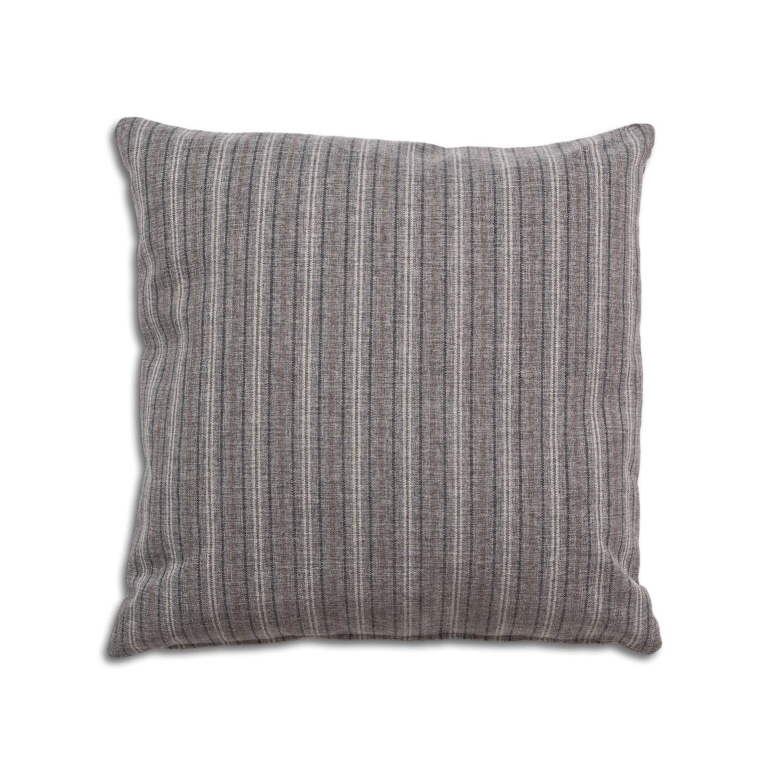 "Breathe 22"" Square Feather Cushion - Grey Stripe"