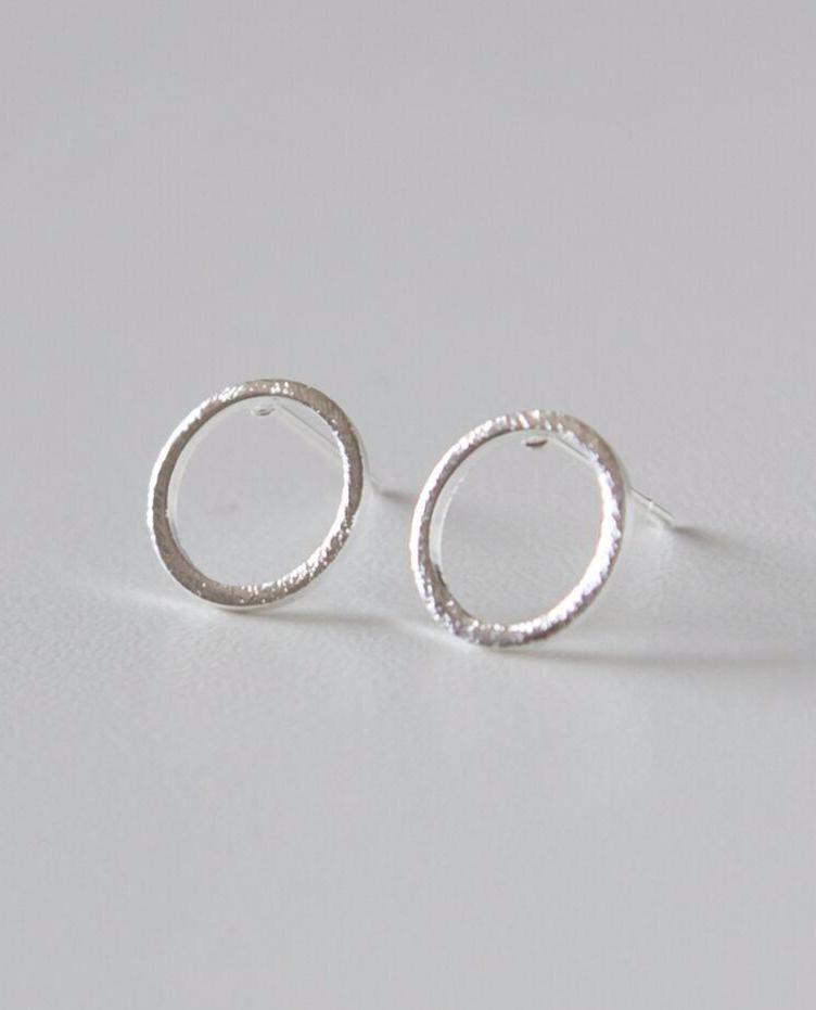 Halo Earrings - Silver