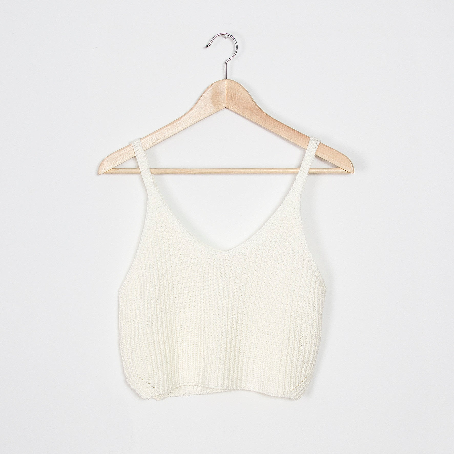 Holly Knit Crop Tank - Ivory