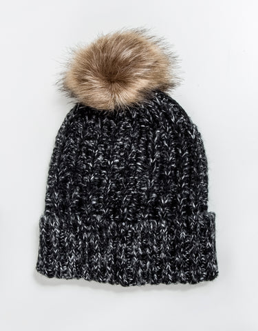 Grouse Faux Fur Pom Pom Hat