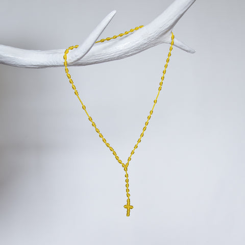 Santa Maria Rosary Necklace - Yellow