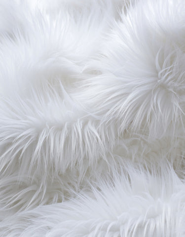 Baaa Faux Fur Throw - White