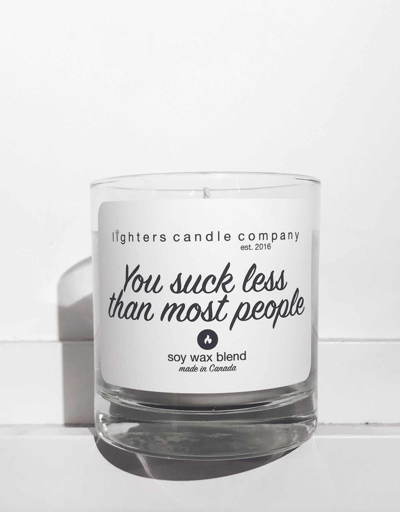 You Suck Less Than Most People Candle