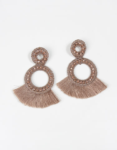 Morgan Earrings - Burnt Orange
