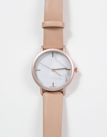 Verona Watch - Nude