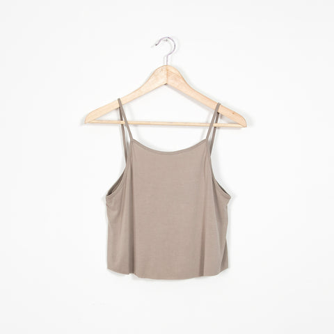 Lilian Crop Tank - Tan