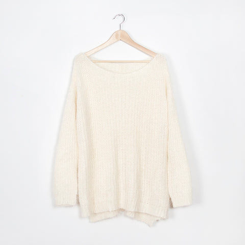 Sam Open Back Sweater - Grey