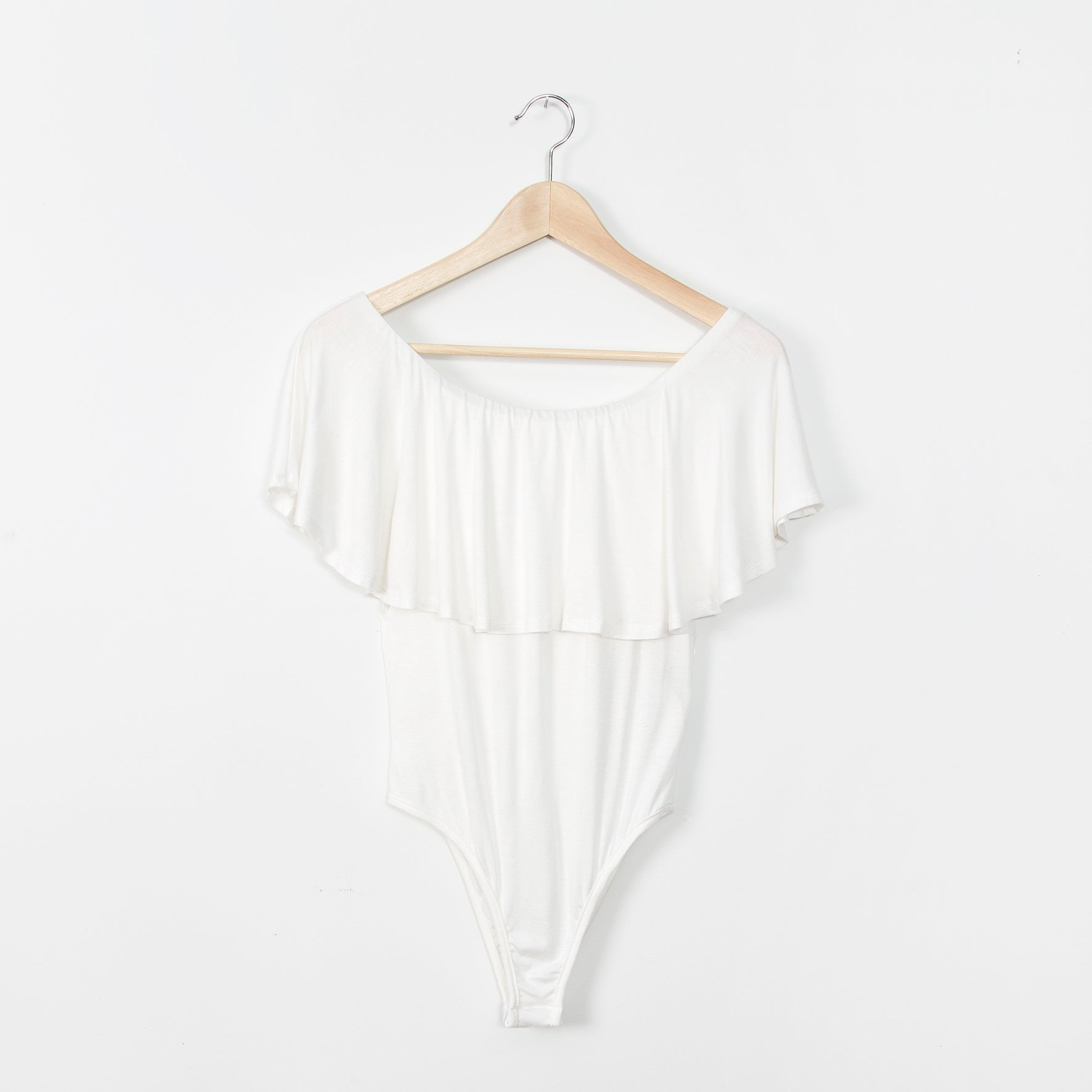 Valentina Off Shoulder Bodysuit - White