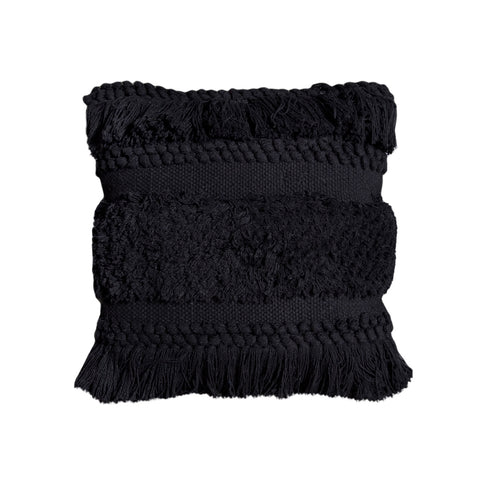 Bohemian Macrame Cushion – Black