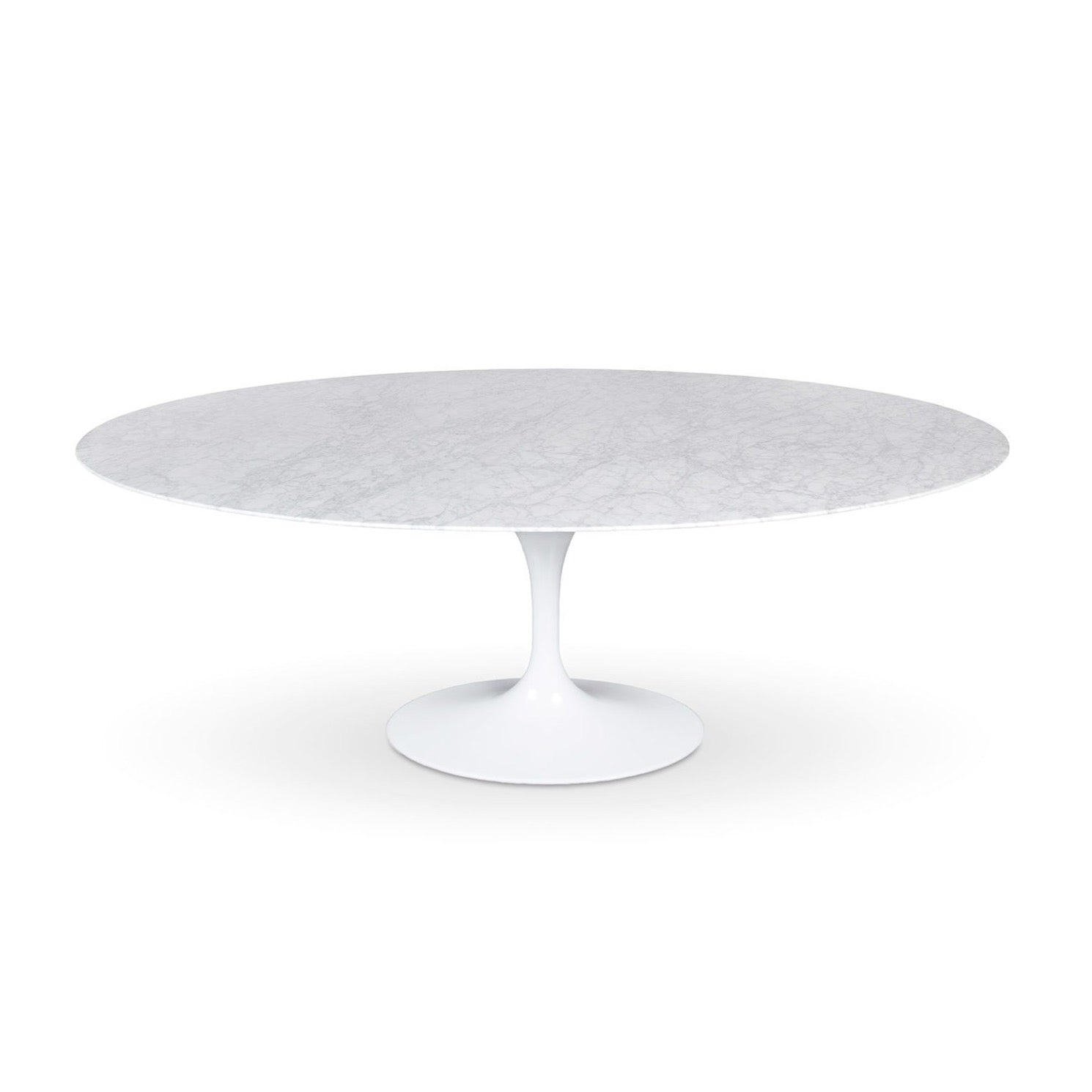 Flute Oval Dining Table with Marble Top
