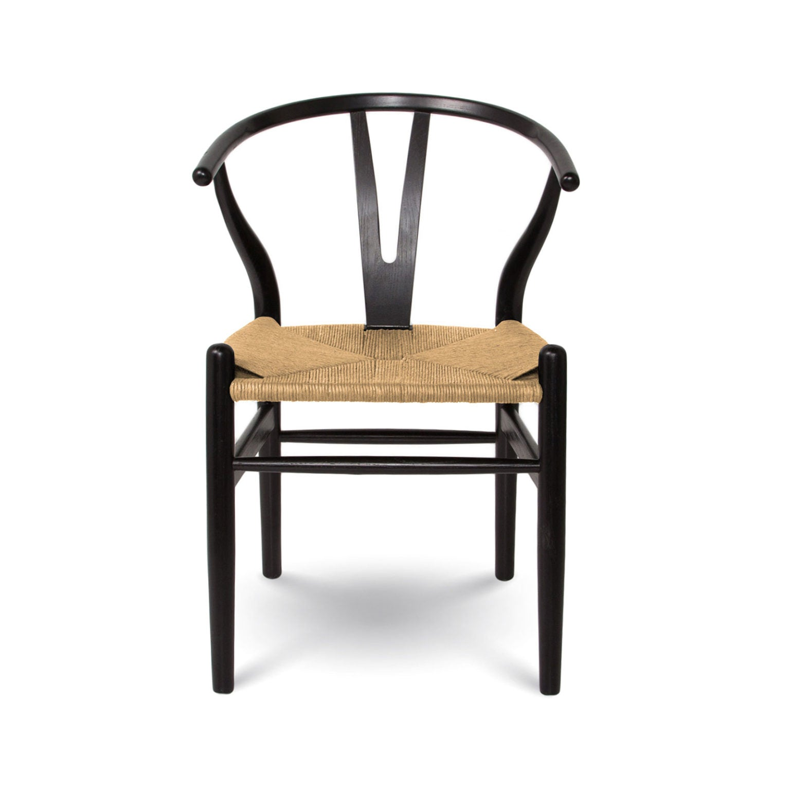 Frida Dining Chair - Black with Natural Seat