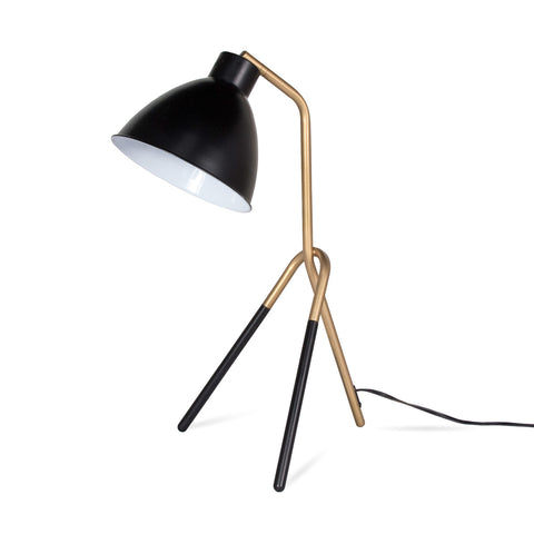 Heron Table Lamp - Gold/Black