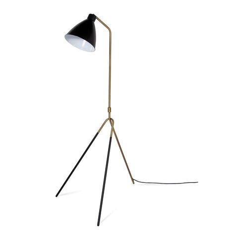 Heron Floor Lamp - Gold/Black