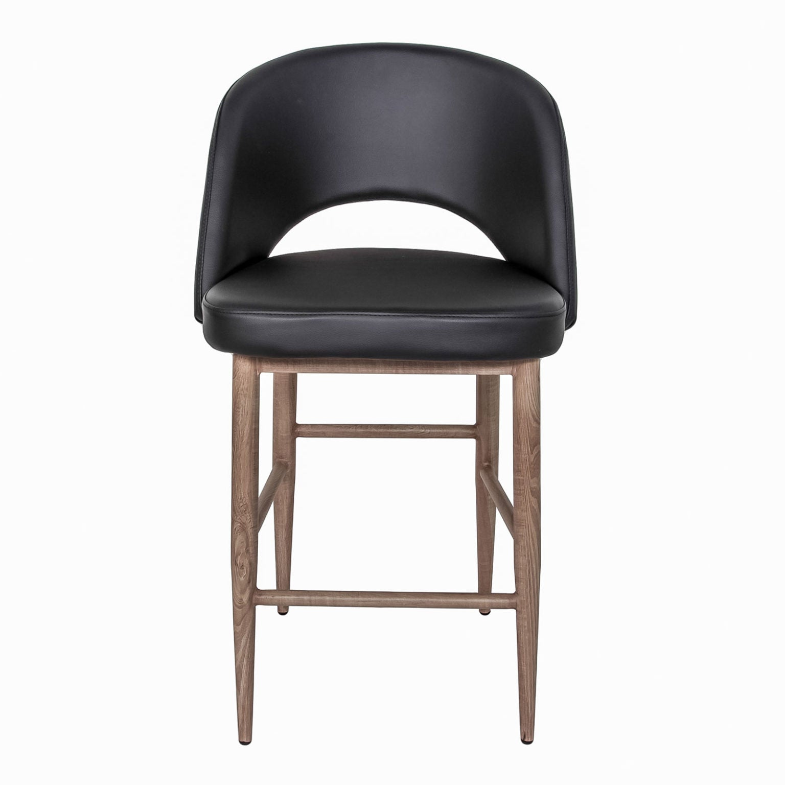 Turner Counter Stool - Black with White Oak base
