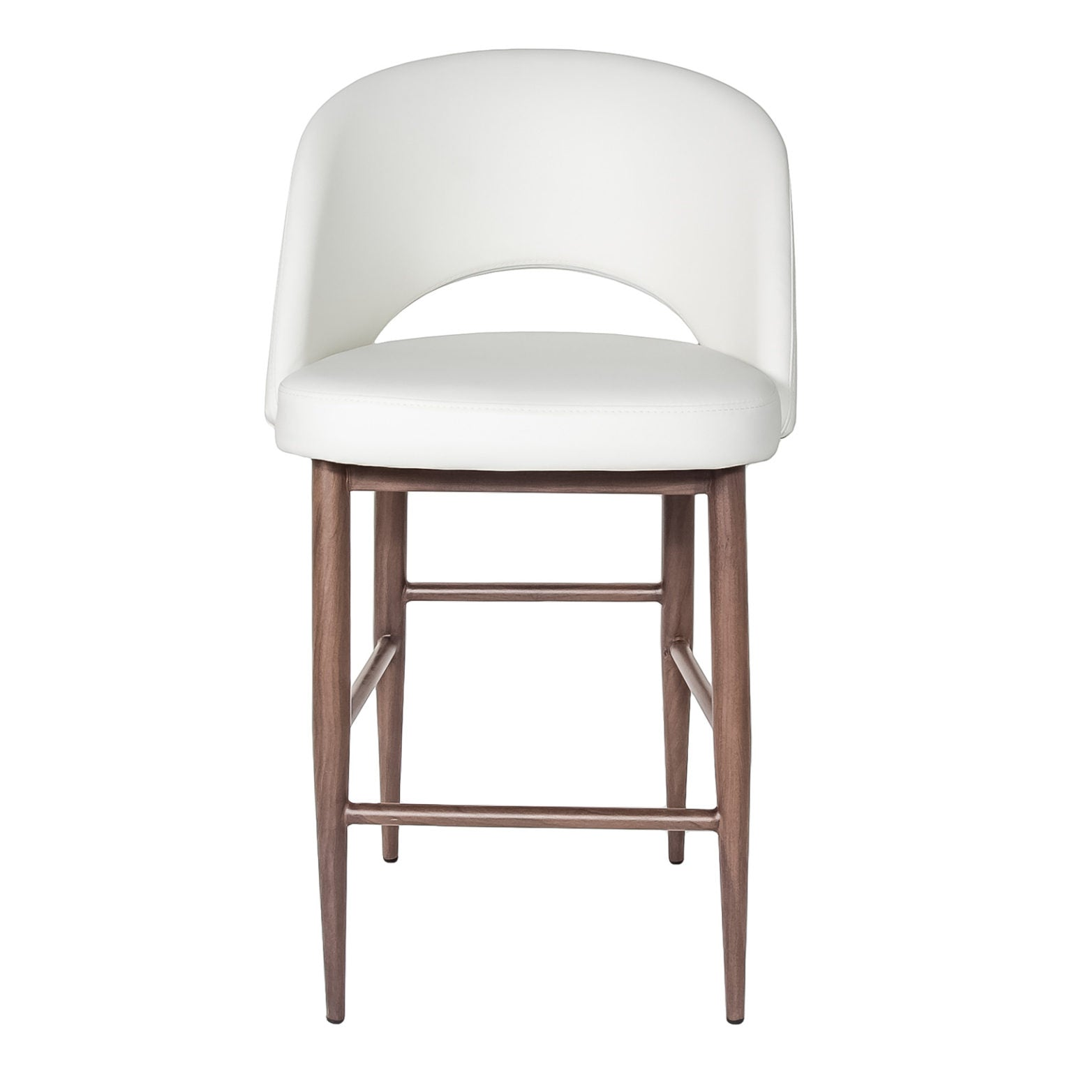 Turner Counter Stool - White with Dark Walnut base