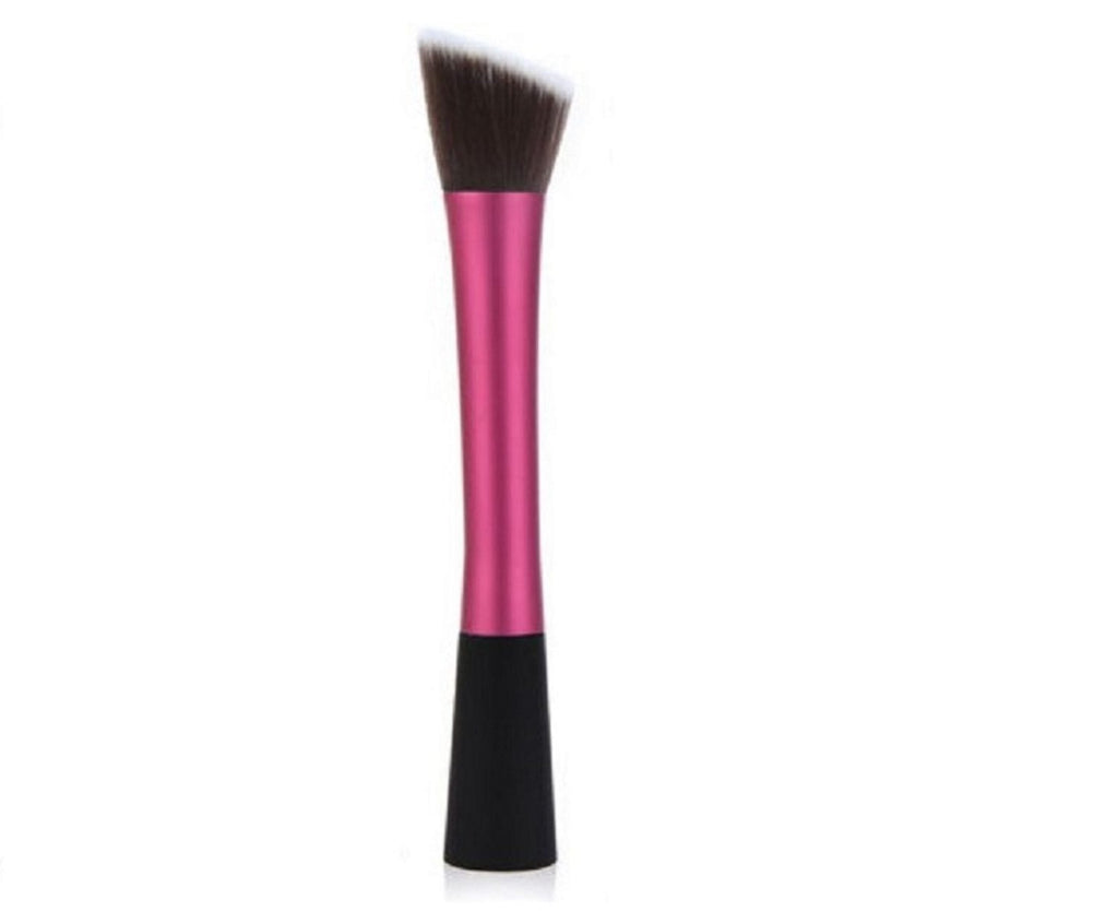 Glowii Pink-Red Flat Angled Makeup Brush 1049-Red - equinoxoutlet
