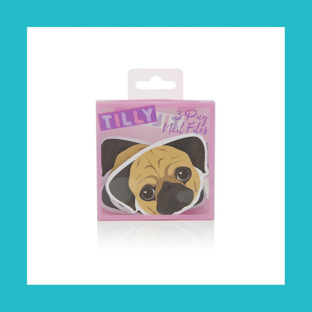 Tilly & Friends Pug Nail Files Gift Set 3 x Nail Files | Equinox Outlet