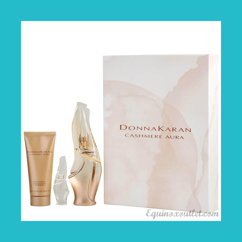 DKNY Cashmere Aura Gift Set 100ml EDP + 5ml EDP + 10ml EDP | Equinox Outlet