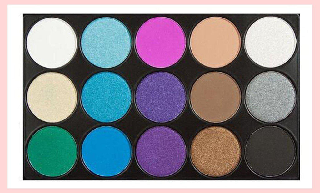 15 Colours Matte/Shimmer Eyeshadow Palette #3 Brights | Equinox Outlet