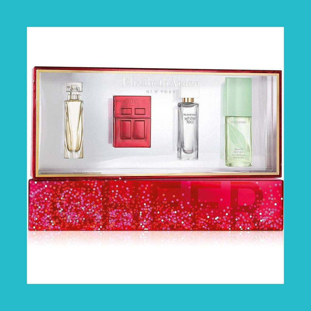 Elizabeth Arden Corporate Holiday Fragrance Gift Set 4 Pieces (1 x 7.5ml My 5th Avenue EDP  1 x 10ml Red Door EDT 1 x 10ml White Tea EDT 1 x 15ml Green Tea Scent Spray) | Equinox Outlet