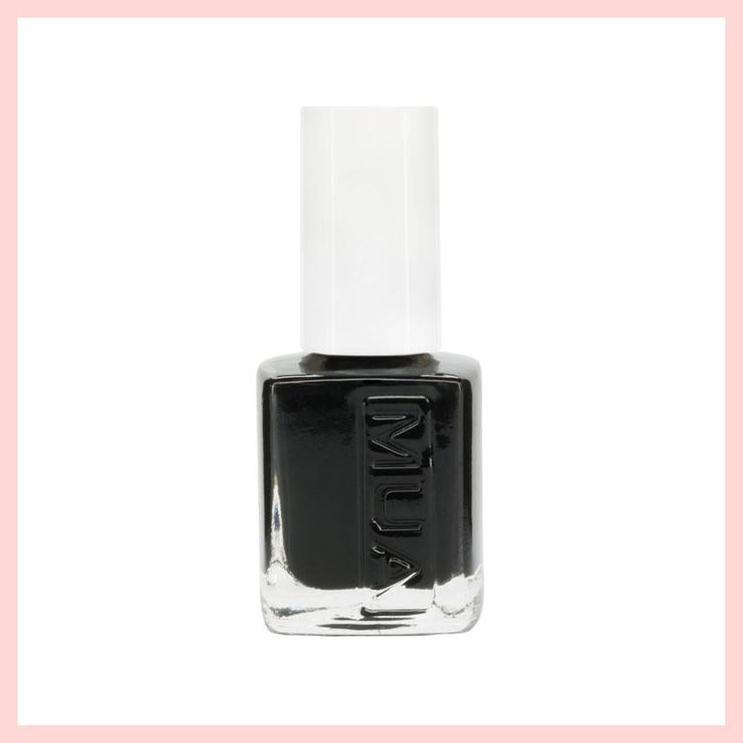 MUA Pitch Black Nail Polish 6ml | Equinox Outlet