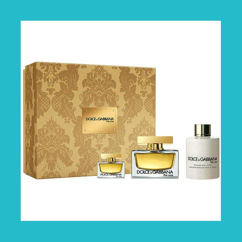 Dolce & Gabbana The One Gift Set 50ml EDP + 100ml Body Lotion + 5ml EDP | Equinox Outlet