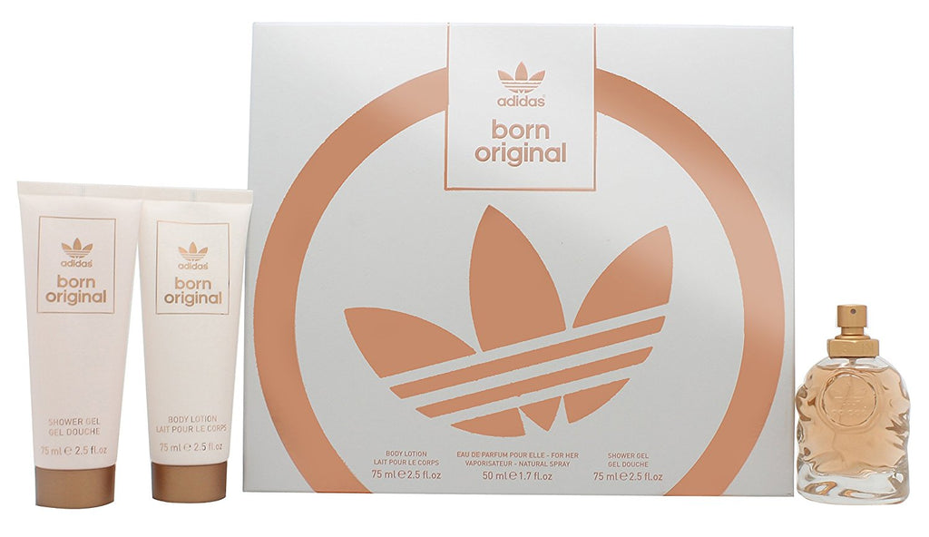 Adidas Born Original for Her Gift Set 50ml EDP + 75ml Body Lotion + 75ml Shower Gel | Equinox Outlet